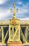 Detail of Trinity Bridge on Neva River, St. Petersburg, Russia Royalty Free Stock Photography