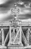 Detail of Trinity Bridge on Neva River, St. Petersburg, Russia Royalty Free Stock Image
