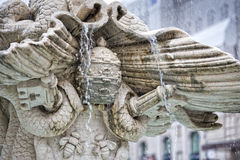 Detail of triton fountain in rome Royalty Free Stock Images