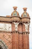 Detail of the Triumphal Arch in Barcelona. Spain Royalty Free Stock Image