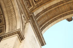 Detail of the triumphe arc. Detail of the column, under the arc de triomphe Royalty Free Stock Image