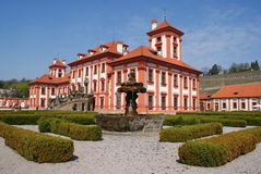 Detail of Troja castle in Prague Stock Photography