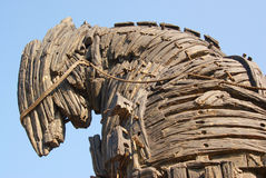 Detail of the trojan horse Royalty Free Stock Photography