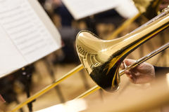 Detail of a trombone Royalty Free Stock Photo