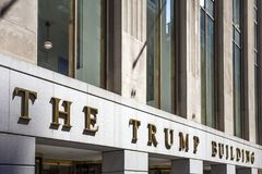 Trump building in New York City Royalty Free Stock Images