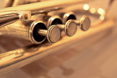 Detail of trumpet closeup Royalty Free Stock Photos