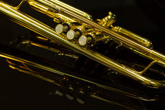 Detail of the trumpet Stock Photography