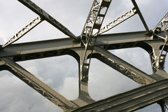 Detail of truss bridge Royalty Free Stock Images