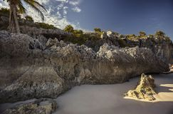 Detail of Tulum`s Beach stock photography