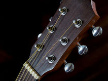 Detail of Tuning head for acoustic guitar, peg Stock Photography