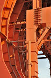 Detail of tunnel working equipmet Royalty Free Stock Image