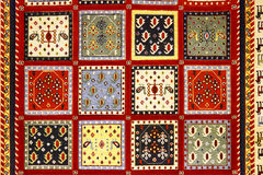 Detail of turkish carpet Stock Photography