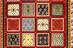 Detail of turkish carpet Stock Photography