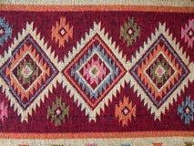 Detail of a turkish kelim. Deatil of a traditional turkish kelim Stock Photos