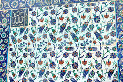 Detail of Turkish Tile from Ottoman Era Istanbul Stock Photos