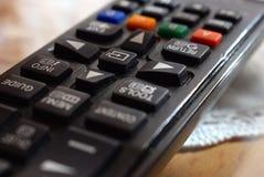 TV remote detail stock photos
