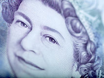 Detail of Twenty Pound Note. Macro detail of English twenty pound note Royalty Free Stock Images