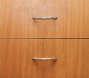 Detail of two drawers Stock Photos
