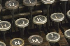 Detail of a typewriter Royalty Free Stock Images