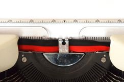 Detail of typewriter Stock Photography