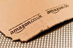 Detail of typical Amazon package Royalty Free Stock Photography