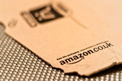 Detail of typical Amazon package Royalty Free Stock Image