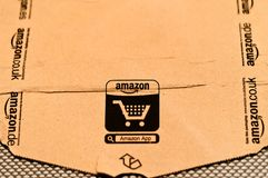 Detail of typical Amazon package Royalty Free Stock Photos