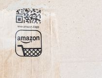 Detail of typical Amazon package Royalty Free Stock Images