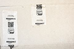 Detail of typical Amazon package Royalty Free Stock Photo