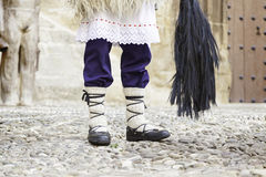 Detail of a typical Basque outfit. Detail of a typical Basque costume, part of a traditional costume for celebrations stock image