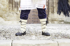 Detail of a typical Basque outfit Stock Photography