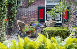 Detail of typical dutch summer terrace Stock Photo
