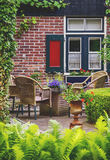 Detail of typical dutch summer terrace Stock Image