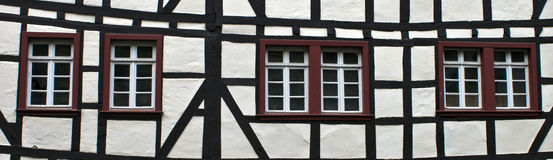 Detail of typical half timbered house Royalty Free Stock Image