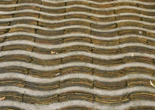 Detail of a typical hand-made pavement. Stock Image