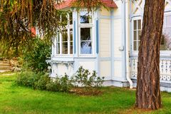 Detail of a typical historical villa on Usedom. Detail of a typical historical villa on the baltic sea island Usedom, Germany Royalty Free Stock Image