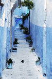 Detail from typical house in Chefchaouen, Morocco Royalty Free Stock Photography