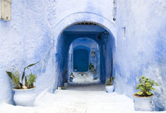 Detail from typical street in chefchaouen Stock Images