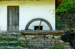 Detail of a typical  ukrainian antique water mill Royalty Free Stock Images