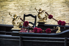Detail of typical venitian gondola Stock Image