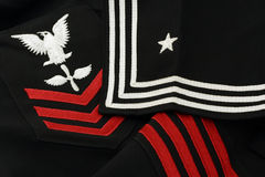 Detail U.S. Navy Sailor Uniform Royalty Free Stock Image