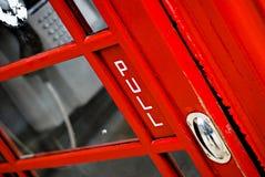 Detail of UK public telephone Stock Photography