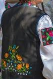 Detail of ukrainian female folk costume 2 Stock Photography