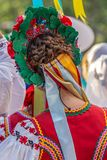 Detail of Ukrainian folk costume for women Royalty Free Stock Photography