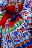 Detail of Ukrainian folk costume for women Stock Photos