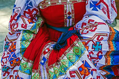 Detail of Ukrainian folk costume for women 1 Stock Photos