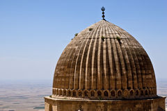 Detail of Ulu Mosque Dome, Mardin-Turkey. The mosque is located in historic core of Mardin. It has numerous inscriptive plaques from the Seljuk, Artuqid, Aq Stock Images