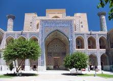 Detail from Ulugbek Medressa. Registan - Samarkand - Uzbekistan Stock Photo
