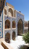 Detail from Ulugbek Meressa - Registan - Samarkand. Uzbekistan Stock Photo