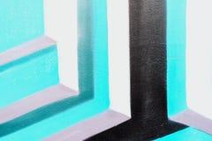 Detail und Beschaffenheit der Wand mit Fragment von Graffiti, mit alter abgebrochener Farbe, Kratzer, Schmutzbeschaffenheit Für m Stockbilder